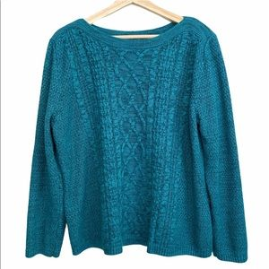Croft & Barrow cable knit boatneck sweater